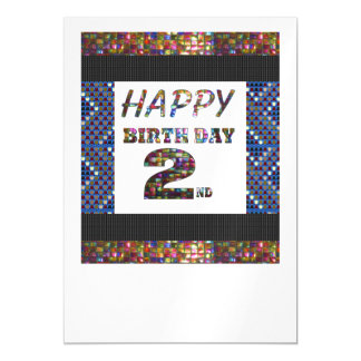 Happy 2nd Birthday Template DIY add TEXT QUOTE 2 Magnetic Invitations