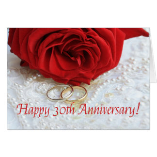 Happy 30th Anniversary roses Greeting Card