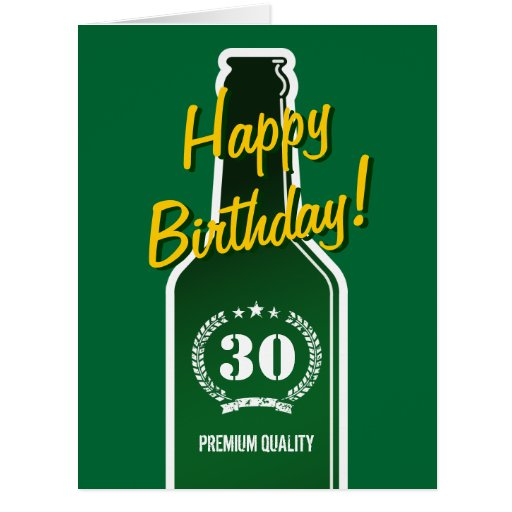Happy 30th birthday big extra large card for men zazzle for Christmas gifts for 30 year old man