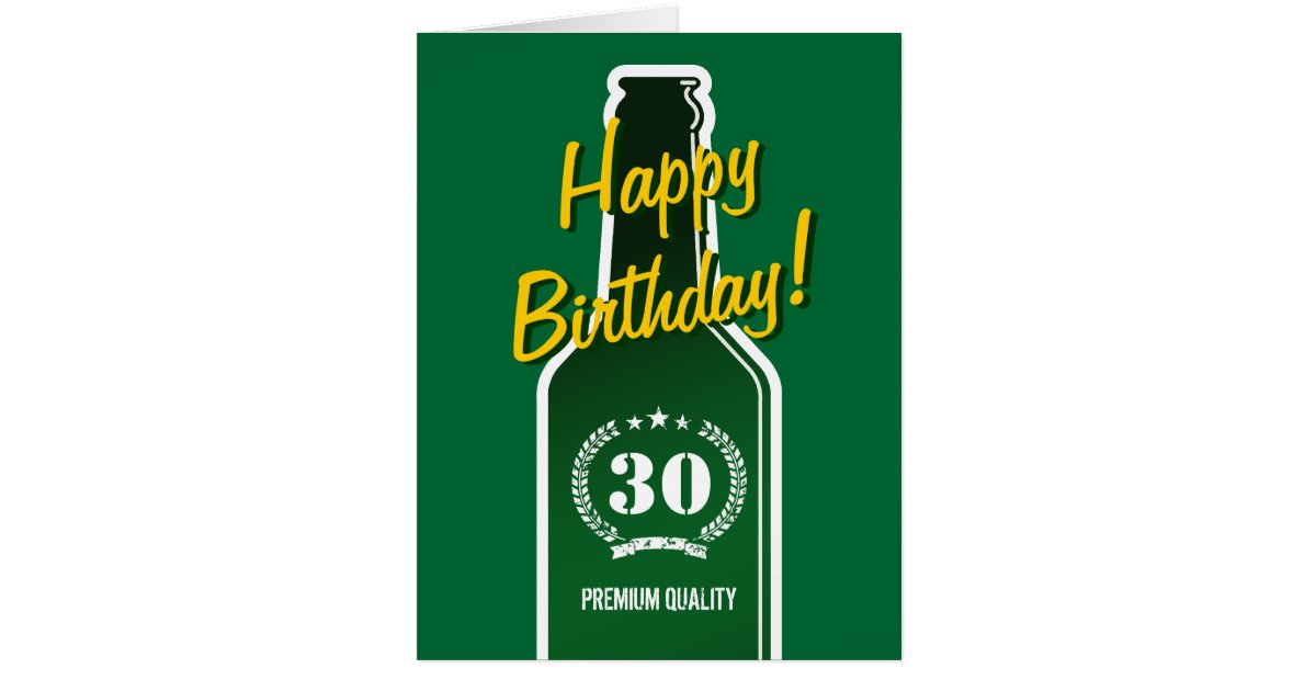 Happy 30th Birthday Big Extra Large Card For Men