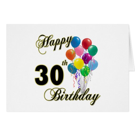 Happy 30th Birthday Gifts and Birthday Apparel Card
