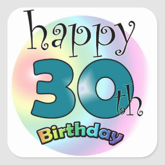 Happy 30th Birthday Square Sticker