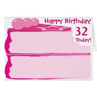 Happy 32nd Birthday Card