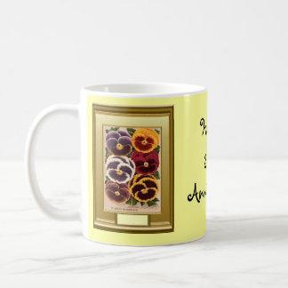 Happy 33rd Anniversary, pansies Coffee Mug