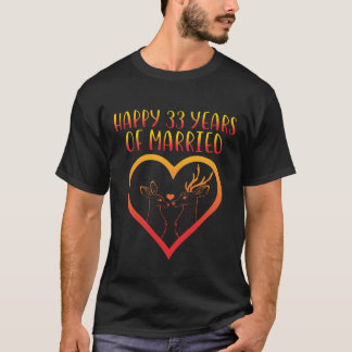 Happy 33rd Anniversary Shirt For Couple