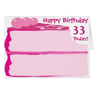 Happy 33rd Birthday Card