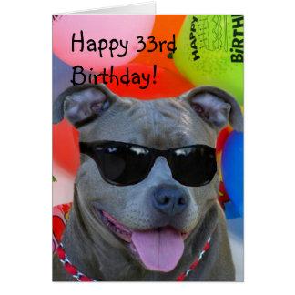 Happy 33rd Birthday Pitbull greeting card