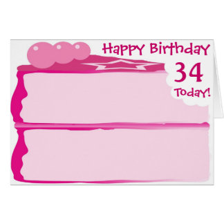 Happy 34th Birthday Card