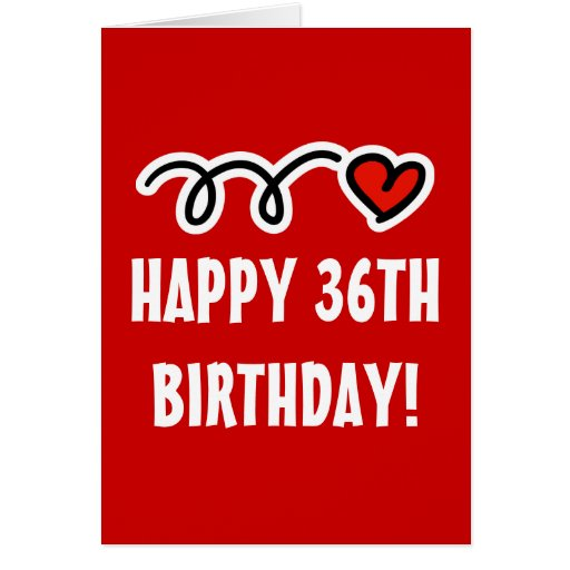 Funny 36th Birthday Cards, Invitations, Photocards & More
