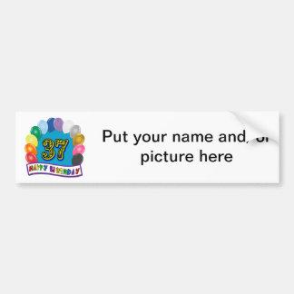 Happy 37th Birthday Balloon Arch Bumper Stickers