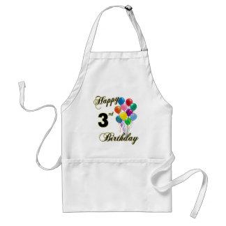 Happy 3rd Birthday BBQ and Kitchen Apron