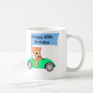 Happy 40th Birthday, 40 Basic White Mug