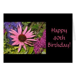 Happy 40th Birthday Card