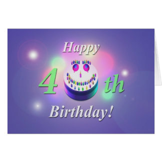 Happy 40th Birthday Smiley Cake Card