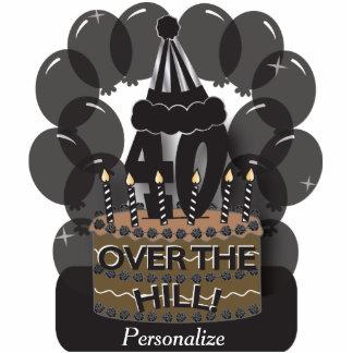 Happy 40th Black Balloon Birthday Cutout Standing Photo Sculpture