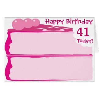 Happy 41st Birthday Card