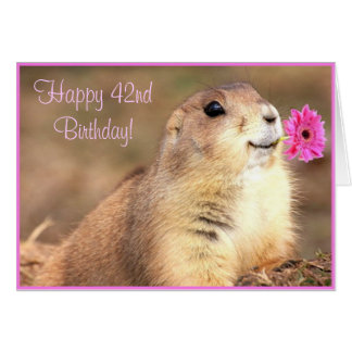 Happy 42nd Birthday Prairie dog greeting card