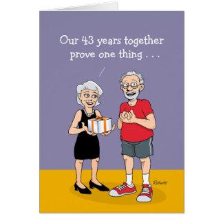 Happy 43rd Wedding Anniversary Card