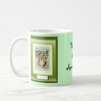Happy 44th  Anniversary, girl in a garden Mugs