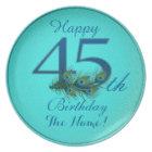 Happy 45th Birthday - 100% personalised plates