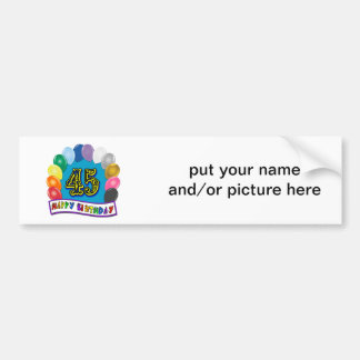 Happy 45th Birthday Balloon Arch Bumper Sticker