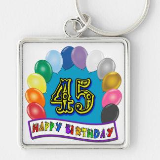 Happy 45th Birthday Balloon Arch Key Ring