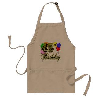 Happy 45th Birthday Merchandise Standard Apron