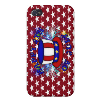 Happy 4th July Crackers iPhone 4 Cover