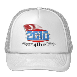Happy 4th of July 2010 American Flag Hats