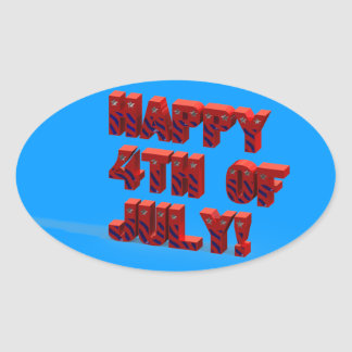 Happy 4TH Of July 3D Sticker