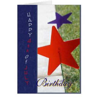 Happy 4th of July Birthday Card