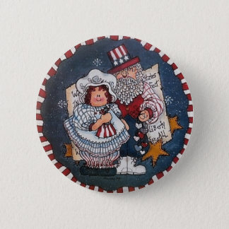 Happy 4th of July Button Pin
