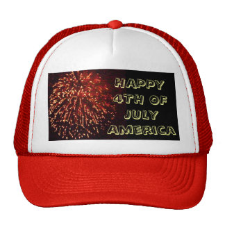 HAPPY 4TH OF JULY cap Hats