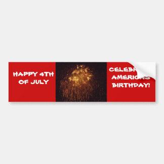 HAPPY 4TH OF JULY, CELEBRATE AMERICA bumper stick Bumper Sticker
