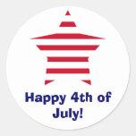 Happy 4th of July! Classic Round Sticker