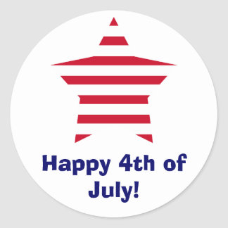 Happy 4th of July! Classic Round Sticker