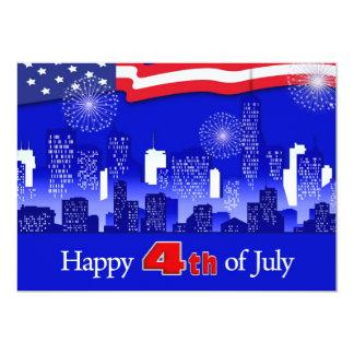Happy 4th of July. Custom Flat Greeting Cards