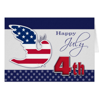 Happy 4th of July. Customizable Greeting Card