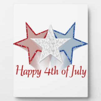 Happy 4th of July Display Plaque