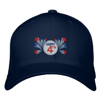 Happy 4th of July Embroidered Hat