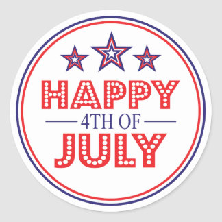 Happy 4th Of July Favor Stickers