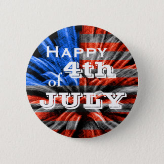 Happy 4th of July Flag Fireworks 6 Cm Round Badge