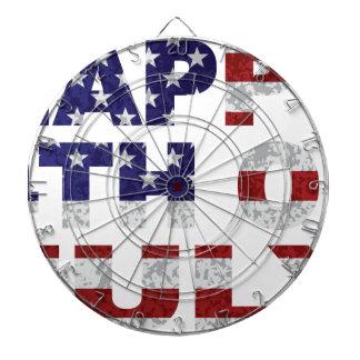 Happy 4th of July Flag Text Outline Txture Illustr Dartboard