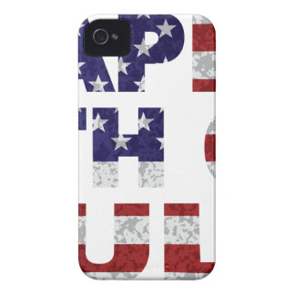 Happy 4th of July Flag Text Outline Txture Illustr iPhone 4 Case