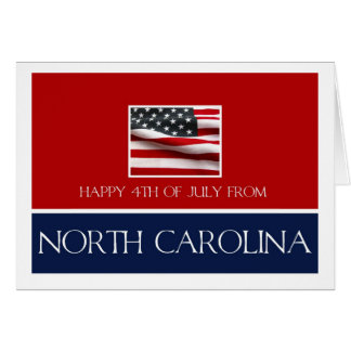happy 4th of July from North Carolina Card