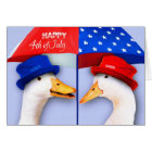 Happy 4th of July. Funny Ducks Customisable Cards