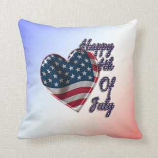 Happy 4th of July Heart - Pillow