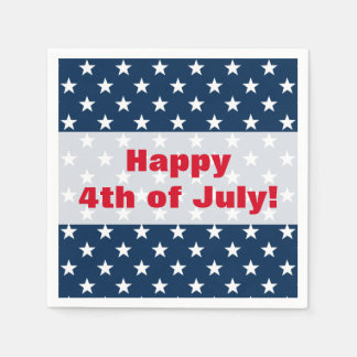 Happy 4th of July  Independence Day party napkins Disposable Napkins