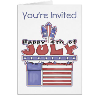 Happy 4th of July - Invitations