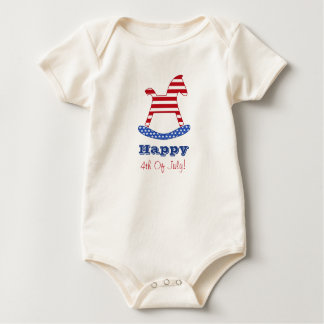 Happy 4th of July Kids Infant Organic Creeper
